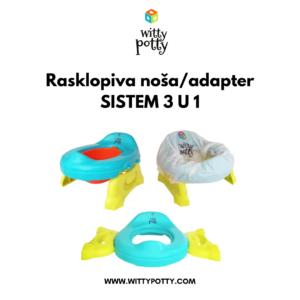 Witty Potty NOŠA/ADAPTER za wc šolju